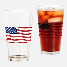 American Flag License Plate Holder Drinking Glass