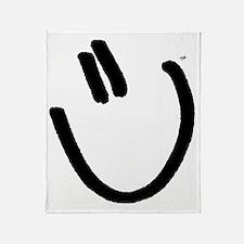 H2DoIt-smile-large-black Throw Blanket