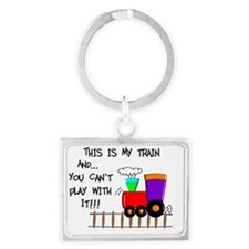 This is MY TRAIN Landscape Keychain