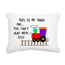 This is MY TRAIN Rectangular Canvas Pillow