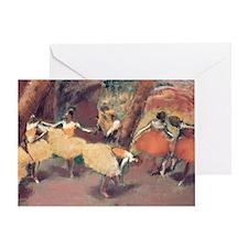 group of dancers shoulder bag degas  Greeting Card