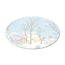 greeting_cards_4.5x6.5_inside_039 Oval Car Magnet