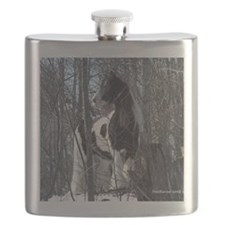 Signed Moe in Trees2JPG Flask