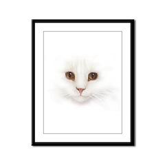 Cat Face Framed Panel Print