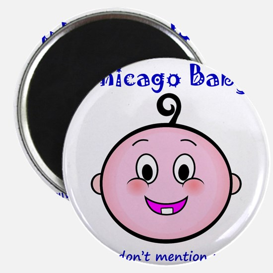 chicago_baby_blue_5x5 Magnet