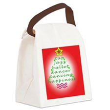 Dancers Christmas Tree Red Canvas Lunch Bag