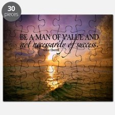 Value and Success Quote on Large Framed Pri Puzzle