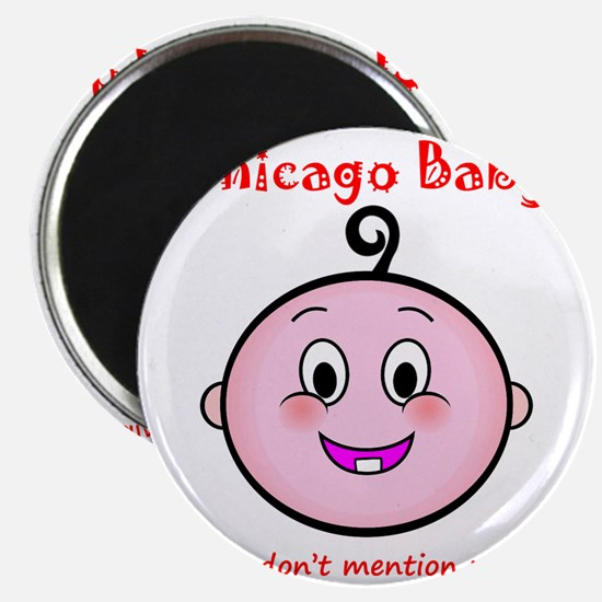 chicago_baby_red_5x5 Magnet