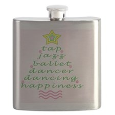 Pink Dancers Christmas Tree Flask