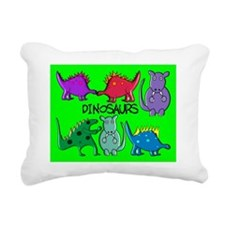 dinosaur puzzle Rectangular Canvas Pillow