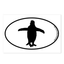 penguin-oval Postcards (Package of 8)