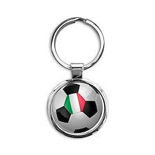 socc_big_italy Round Keychain
