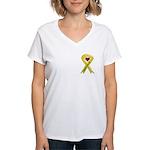 Keep My Soldier Safe Ribbon Women's V-Neck T-Shi