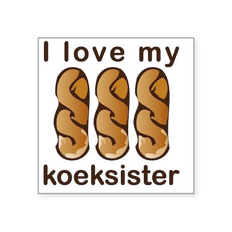 "10x10_apparel-koek-1 Square Sticker 3"" x 3"""