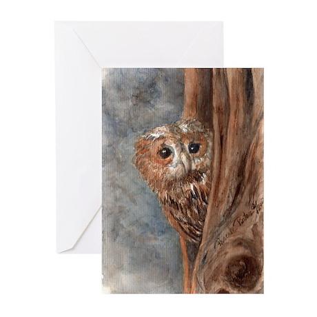 Night Owl Greeting Cards (Pk Of 10)