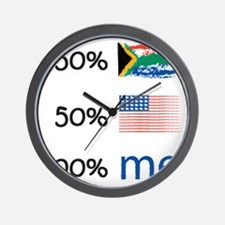 sa-flag-2-10-10 Wall Clock