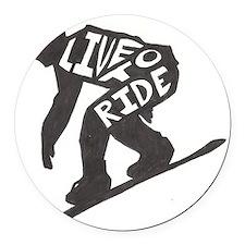 LivetoRide2 Round Car Magnet