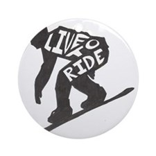 LivetoRide2 Round Ornament