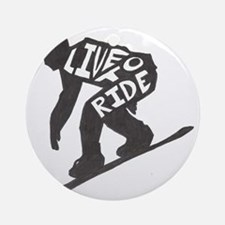 LivetoRide2 Round Ornament