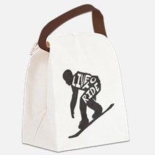 LivetoRide2 Canvas Lunch Bag