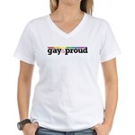 Gay&proud Women's V-Neck T-Shirt