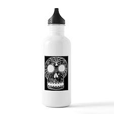 black background white Water Bottle