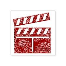 "red Square Sticker 3"" x 3"""