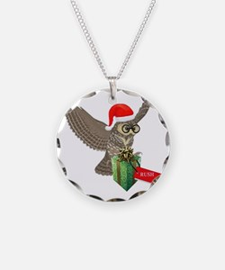 Potter Christmas Post Owl Necklace