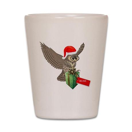 Potter Christmas Post Owl Shot Glass
