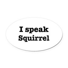 Cute Languages Oval Car Magnet