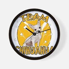 Team Chihuahua Wall Clock