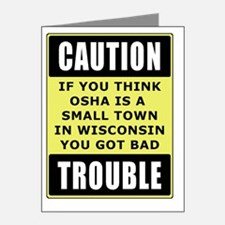 OSHA_troublesmalls Note Cards (Pk of 20)