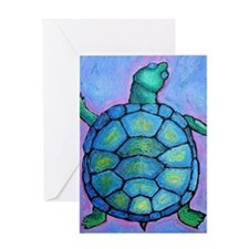 blueturtlemousepad Greeting Card