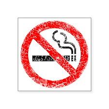 "distressed no smoking Square Sticker 3"" x 3"""