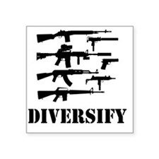 "diverse Square Sticker 3"" x 3"""