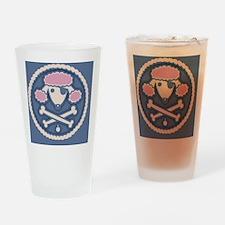 poodle-pir-rope-OV Drinking Glass