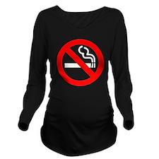 onblack Long Sleeve Maternity T-Shirt