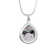 skixmas Silver Teardrop Necklace