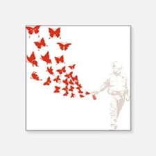 "pike-butterfly-DKT Square Sticker 3"" x 3"""