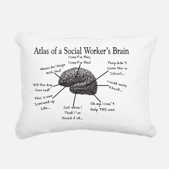Atlas of a Social worker Rectangular Canvas Pillow