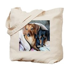 Needlepoint Look Dachshund Do Tote Bag