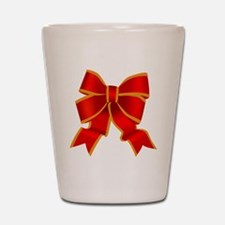 Red Bow Shot Glass