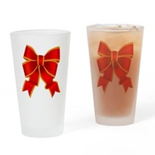Red Bow Drinking Glass
