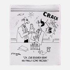 6836_science_cartoon Throw Blanket