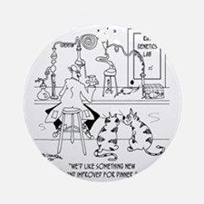 6606_food_processing_toon Round Ornament