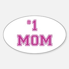#1 Mom in dark pink Decal