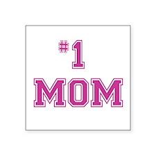 #1 Mom in dark pink Sticker