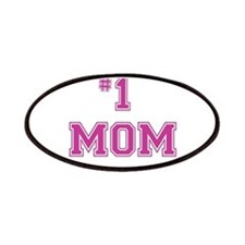#1 Mom in dark pink Patches