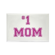 #1 Mom in dark pink Magnets