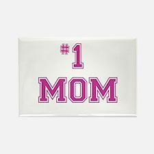#1 Mom in dark pink Magnets